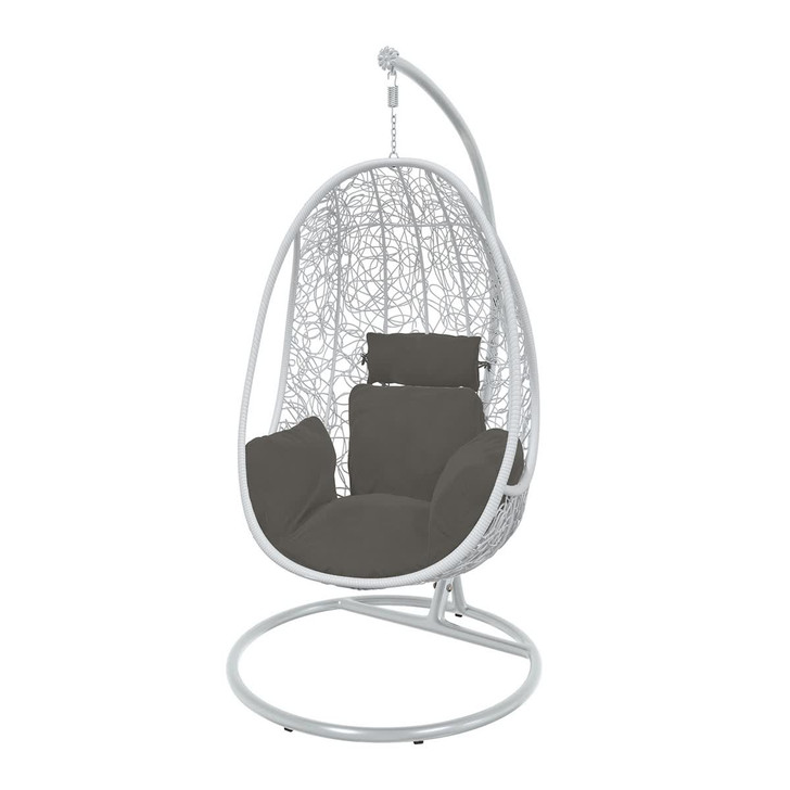 Camia Hanging Swing Egg Chair-  White