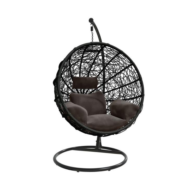 Bahia Hanging Swing Egg Chair- Black