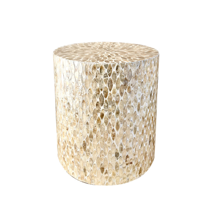 Ely 40cm Mother of Pearl Inlay Side Table