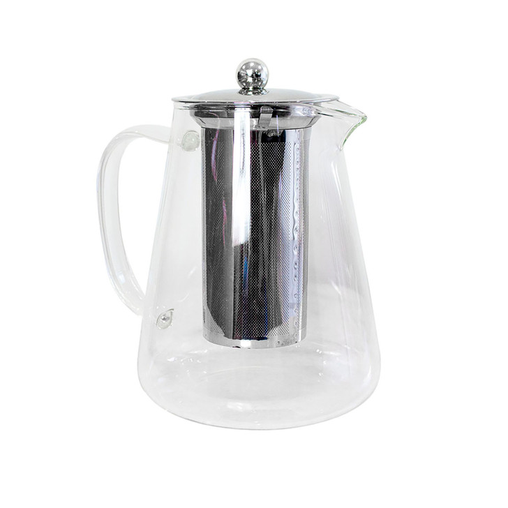 Luxo 1300ml Glass Teapot with Infuser