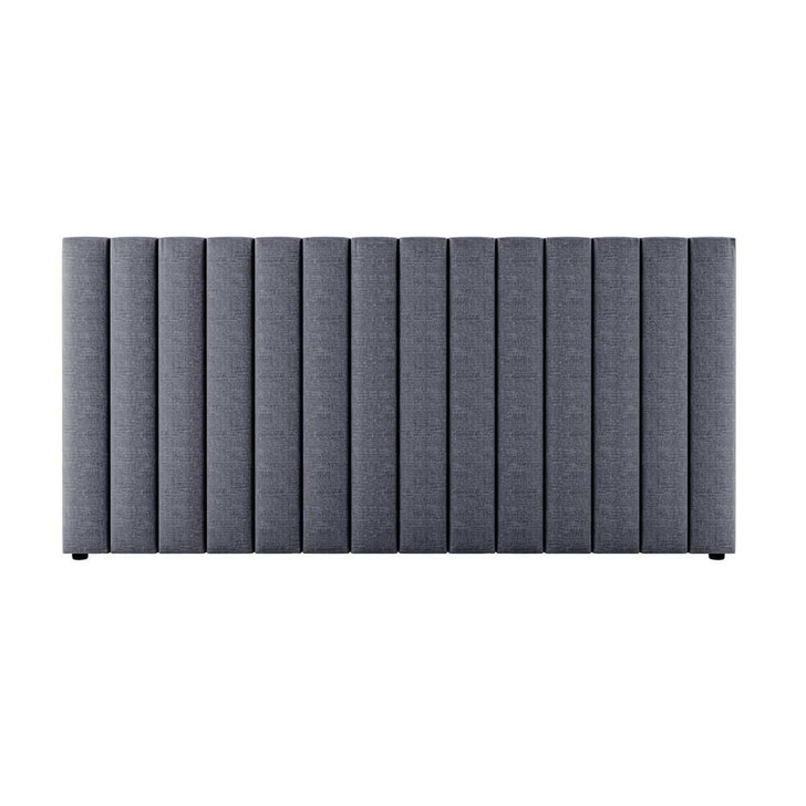 Aquila Extra Wide Double Upholstered Bed Headboard - Charcoal