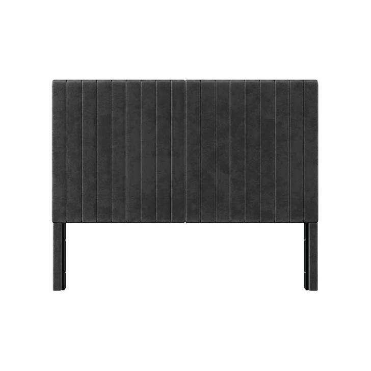 Zebiana Velvet Bed Headboard - Black