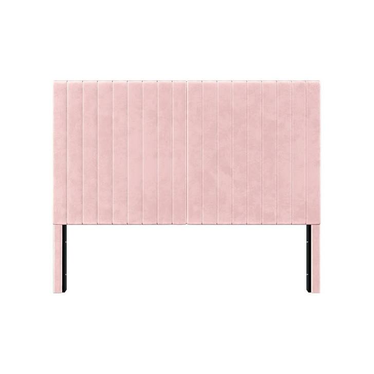 Zebiana Velvet Bed Headboard - Blossom Pink