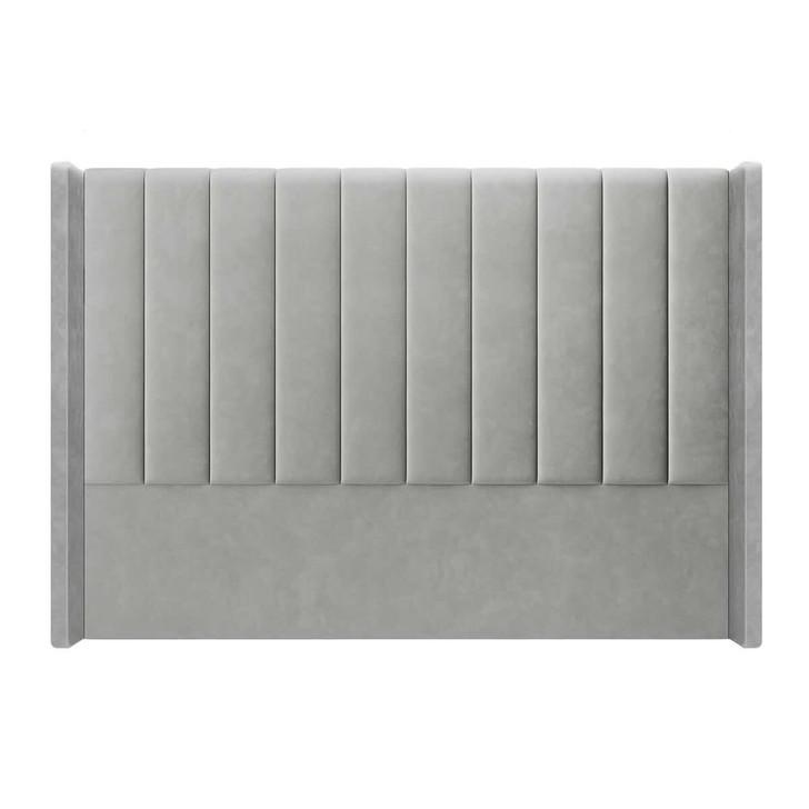 Fulvia Upholstered Velvet Headboard – Slate