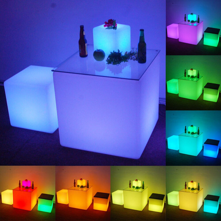 Waterproof Outdoor LED Cube Lights Décor