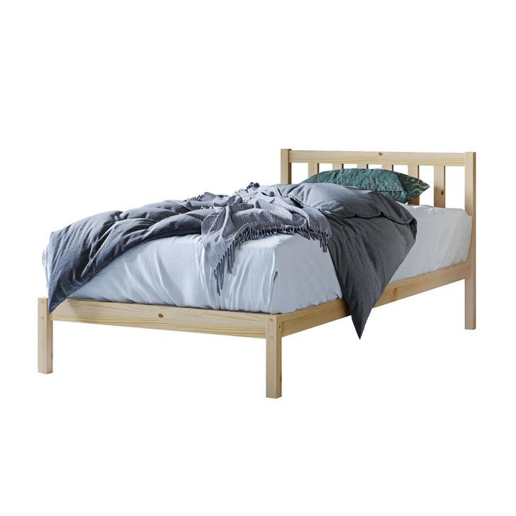 Drusa King Single Pine Bed & Mattress Bundle