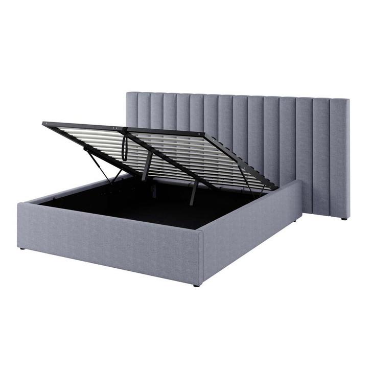 Aquila Headboard & Fabia Bed Base Package – Grey