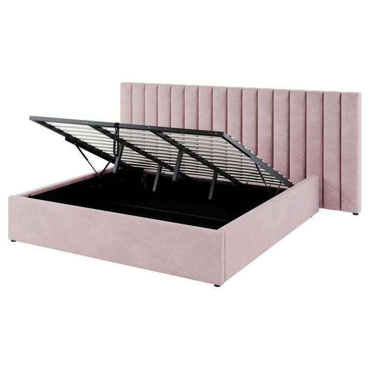 Aquila Headboard & Fabia King Bed Base Package - Pink