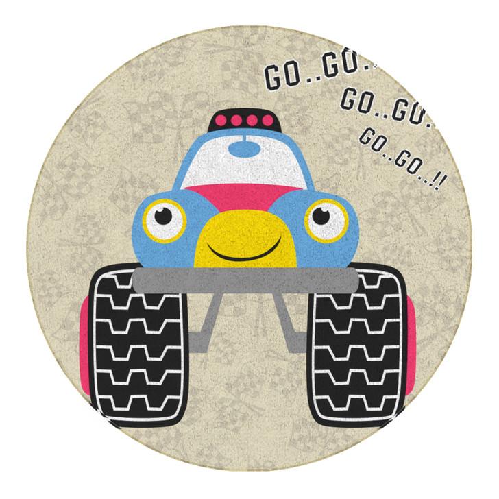 160cm Cartoon Buggy Round Childrens Floor Rug