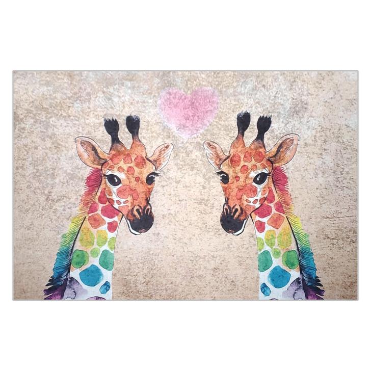 Giraffe Kids Floor Rug