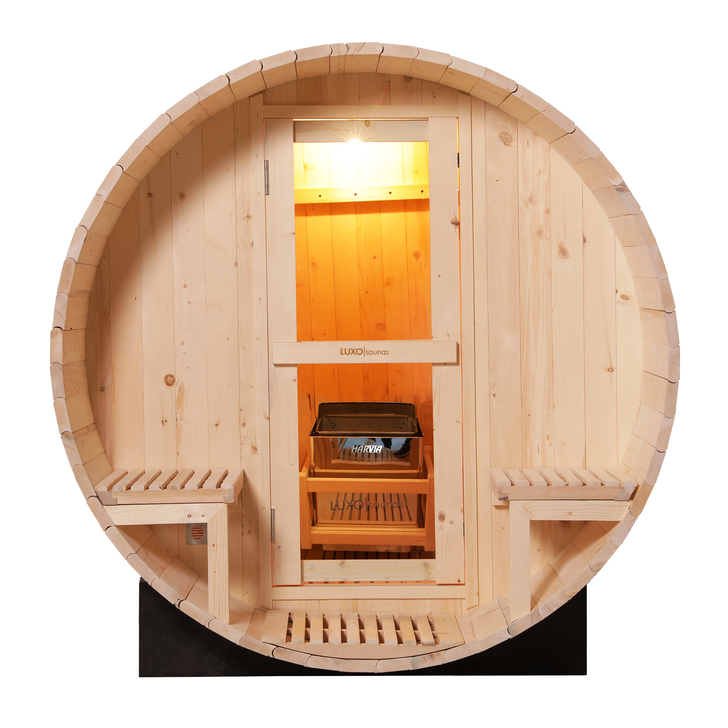 Luola 2 Person Outdoor Barrel Sauna – Pine