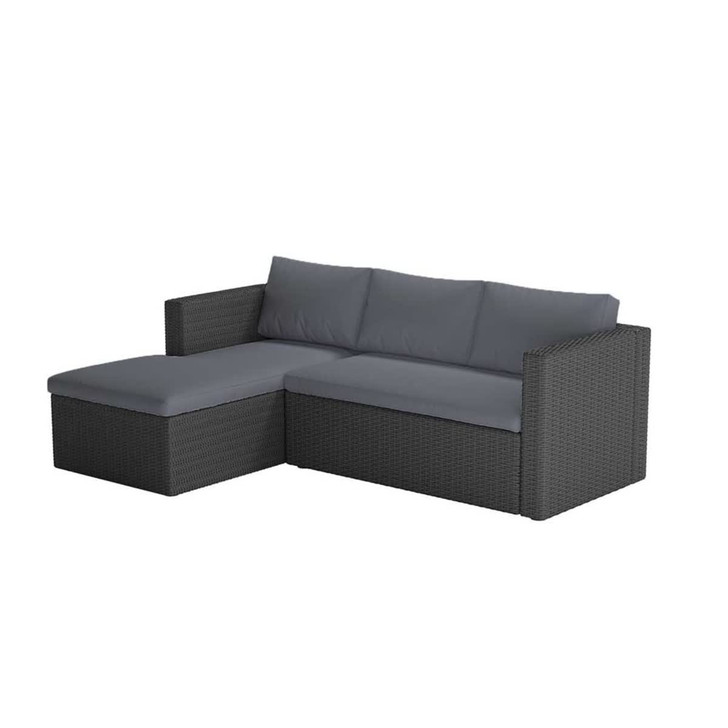 Vambelle Outdoor Modular Lounge Setting - Charcoal Cushion