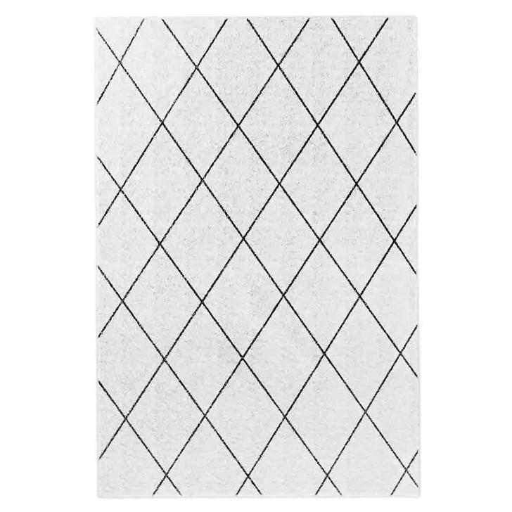 Milani Black Print Contemporary Floor Rug