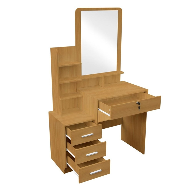 Charlotte Dressing Table Mirror w/ Drawers & Stool