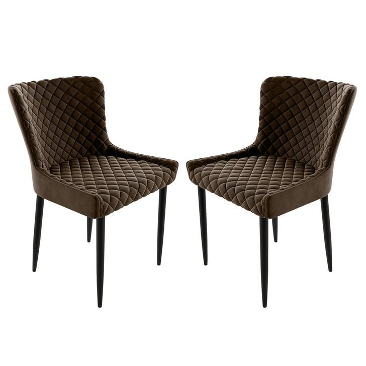 Glenn Fabric Dining Chair (Set of 2)