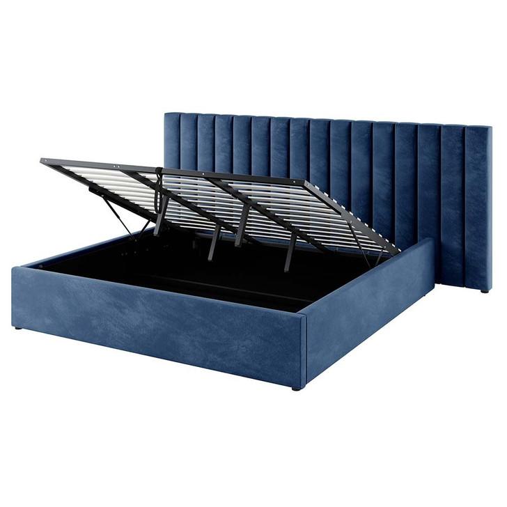 Aquila Headboard & Fabia King Bed Base Package - Blue