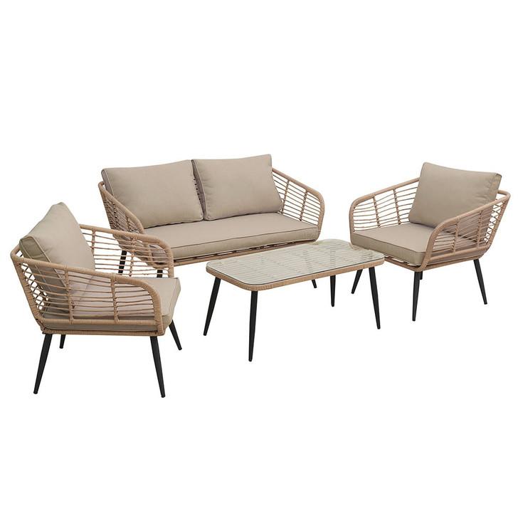 Bequia 4 Seater Rope Wicker Outdoor Sofa