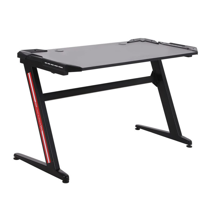 Zero RGB Gaming Desk with LED Lights - Red