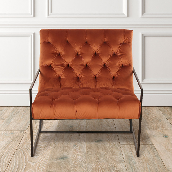 Candice Tufted Velvet Accent Chair
