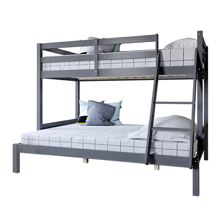 Antonia Natural Pine Triple Bunk Bed - Grey