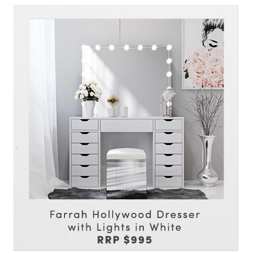 Farrah Hollywood Dresser with Lights