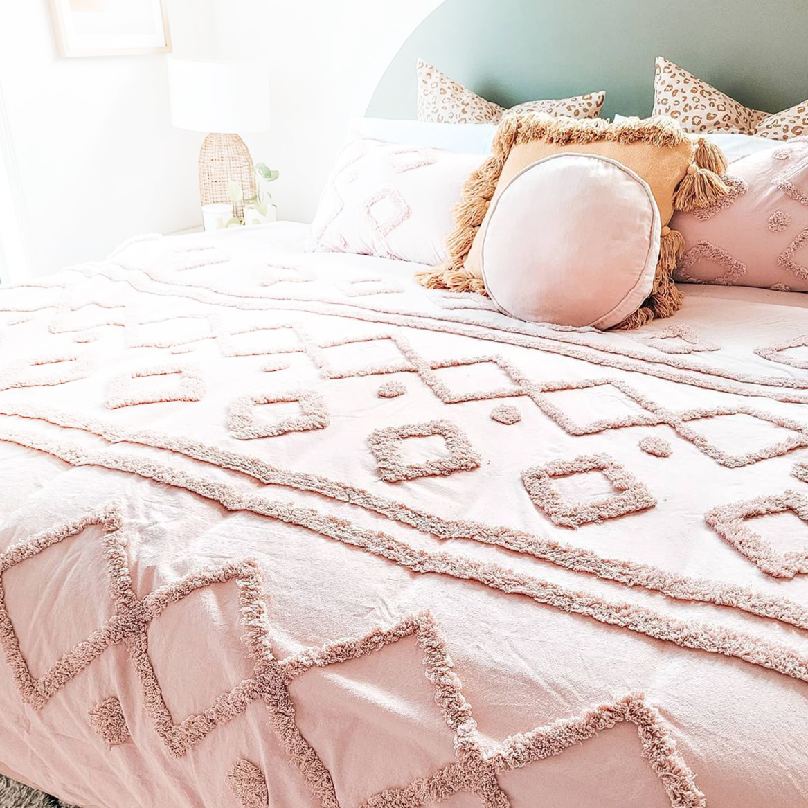 In Stock Now, Chenille Textured Quilt Cover Set