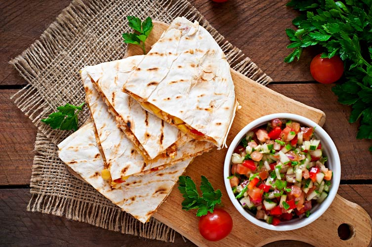 Make quesadillas that are fun and healthy.
