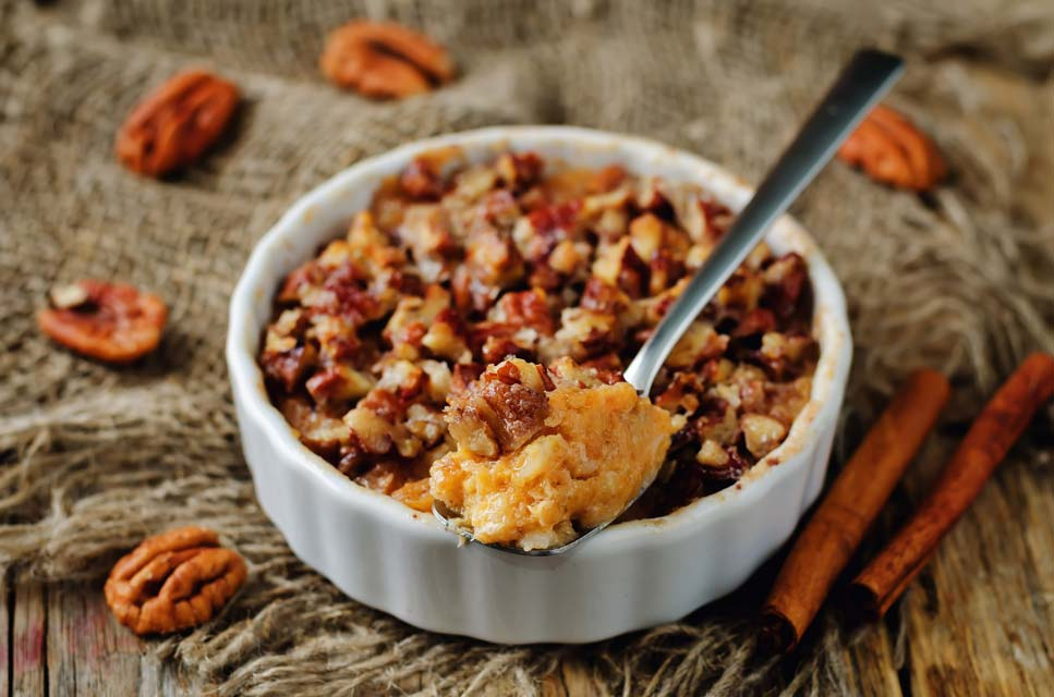 Make a healthier version of sweet potato casserole this autumn.
