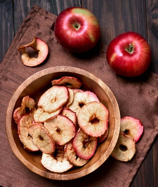 Make these crispy homemade baked apple chips.
