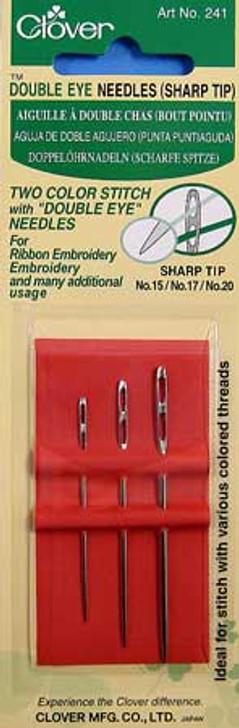 Clover Double Eye Needles (Sharp Tip)