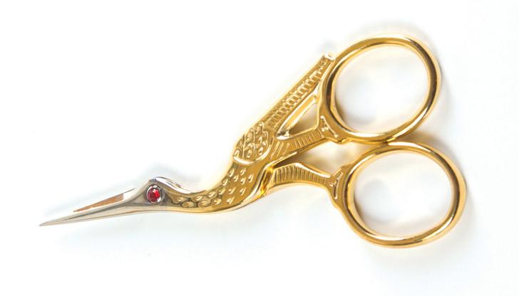 3 1/2 Inch Fine Italian Ruby-Eyed Stork Scissors