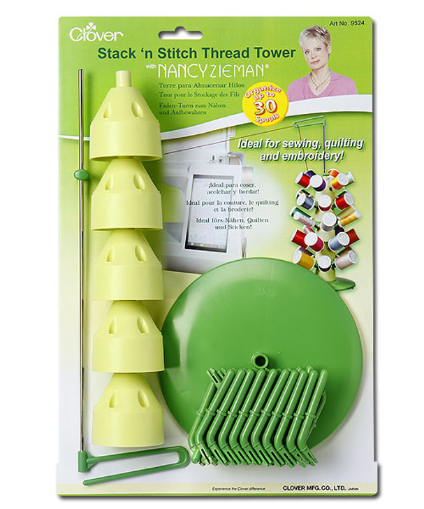 Clover Stack and Stitch Thread Tower.  For projects using multiple thread colors/
