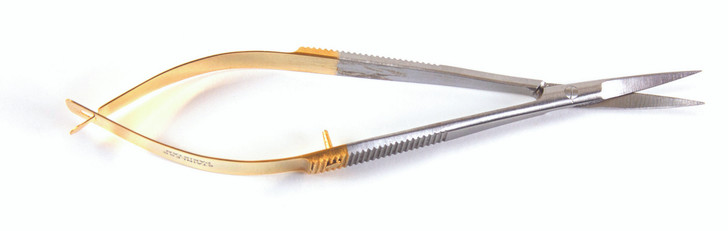 Easykut spring action scissor with curved blade for easier cutting.  Shear cut, lightweight, less hand fatigue.  For all sewing needs.