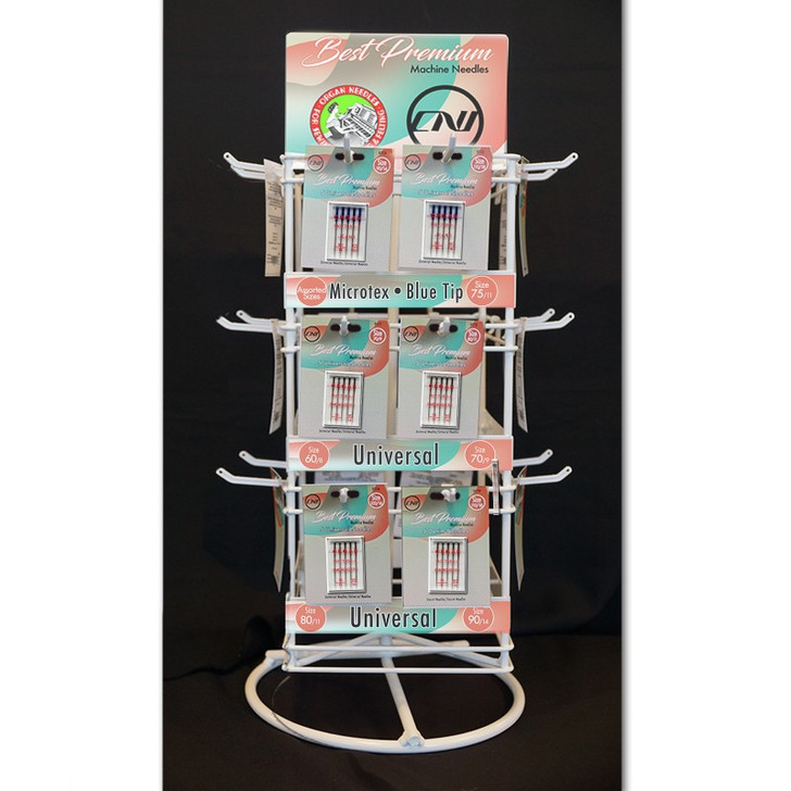 """This assortment includes 24 SKUS and a FREE 23"""" x 7"""" Counter Top Spin Rack display."""