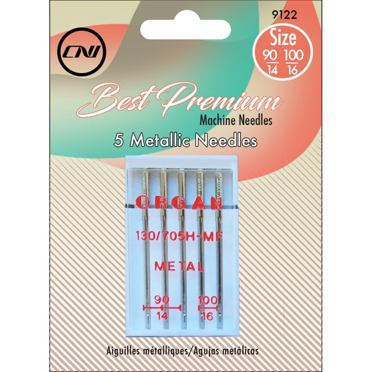 The Metallic needle is specifically designed to handle the more fragile metallic threads