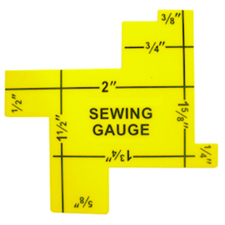 Perfect for checking small measurements in sewing and quilting projects.  Double-sided gauge with 14 functional measurements