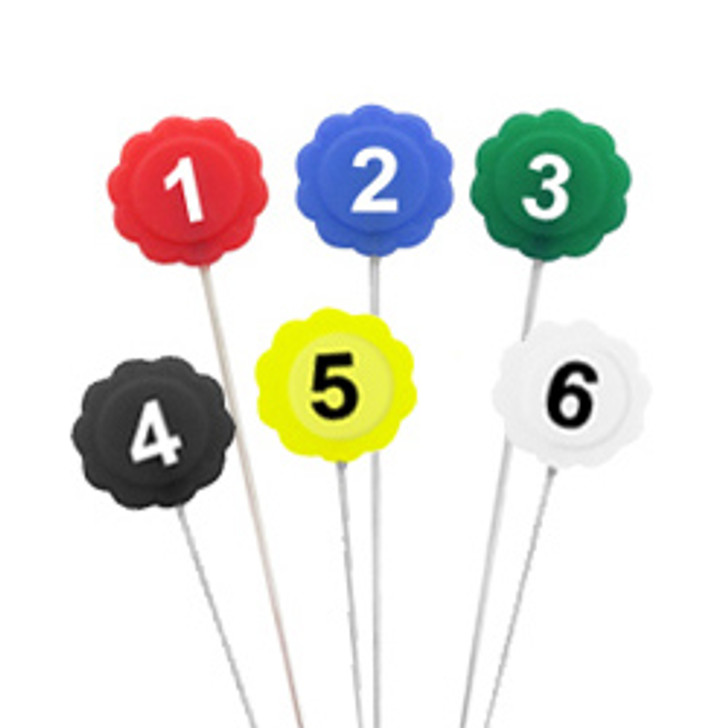 Numbered Pins
