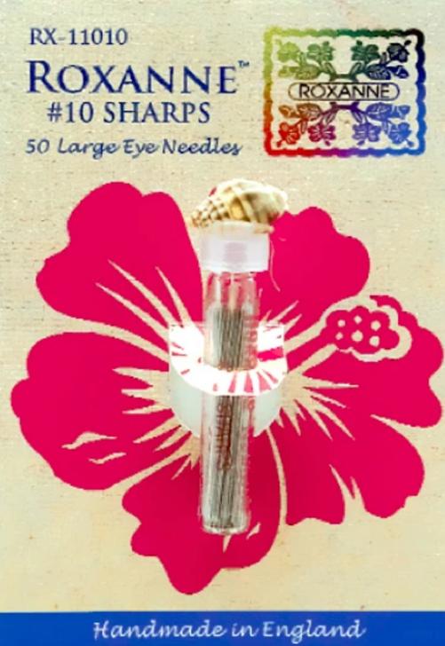 Sharps - 50 Large Eyed Needles -- Number 10