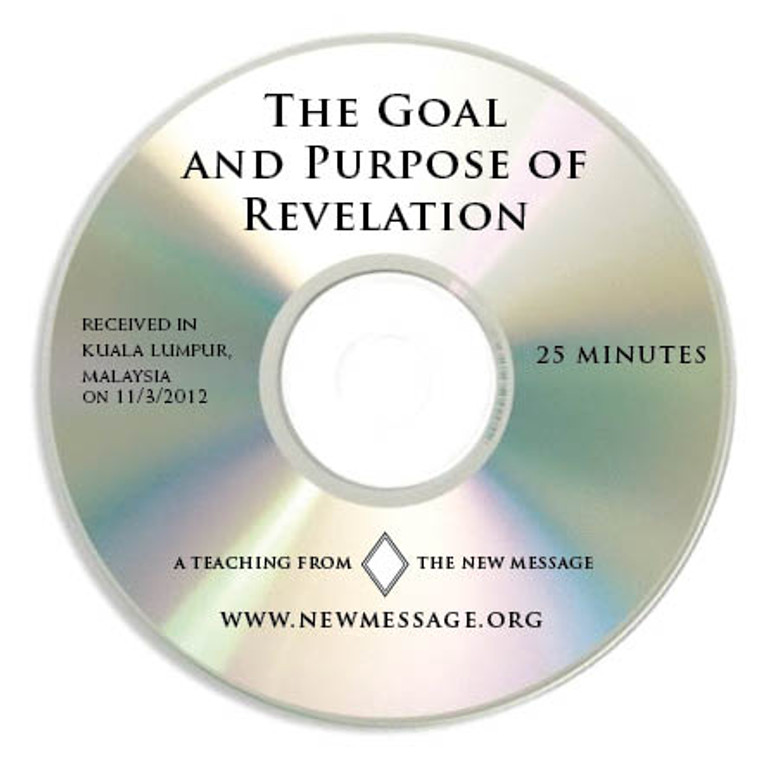 The Goal and Purpose of Revelation - CD