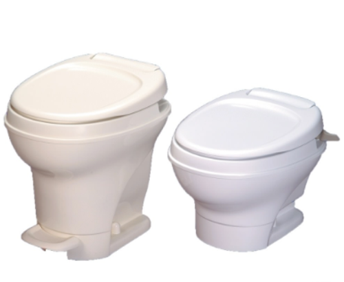 Thetford Aqua-Magic V, Hand-Flush/W Spray Water, High Profile/White 31675