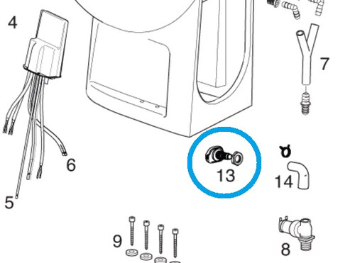 Thetford Nozzle Kit 36746 (for Tecma Silence Plus) White