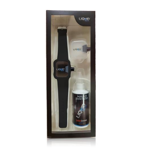 Hand Sanitizer Sani Watch Kit Black (S)
