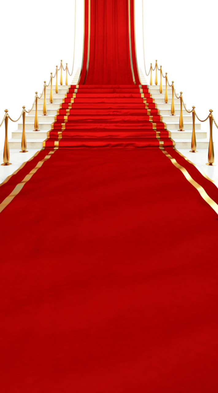 Red Carpet Stairway Backdrop Photo Pie
