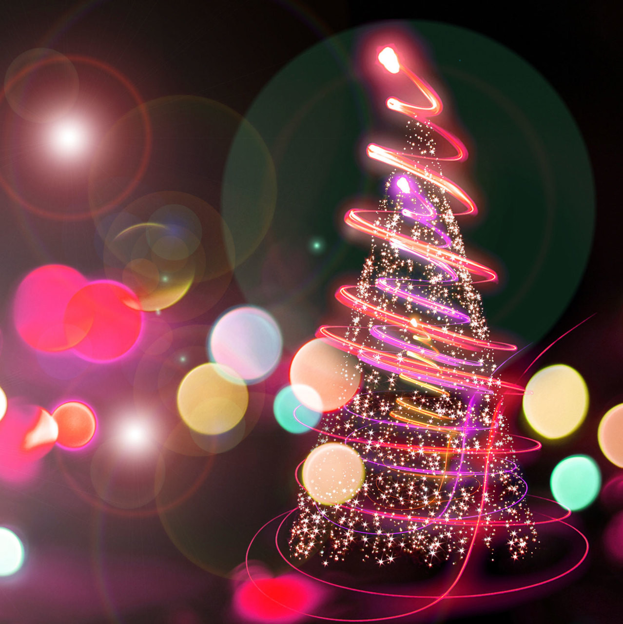Neon Pink Christmas