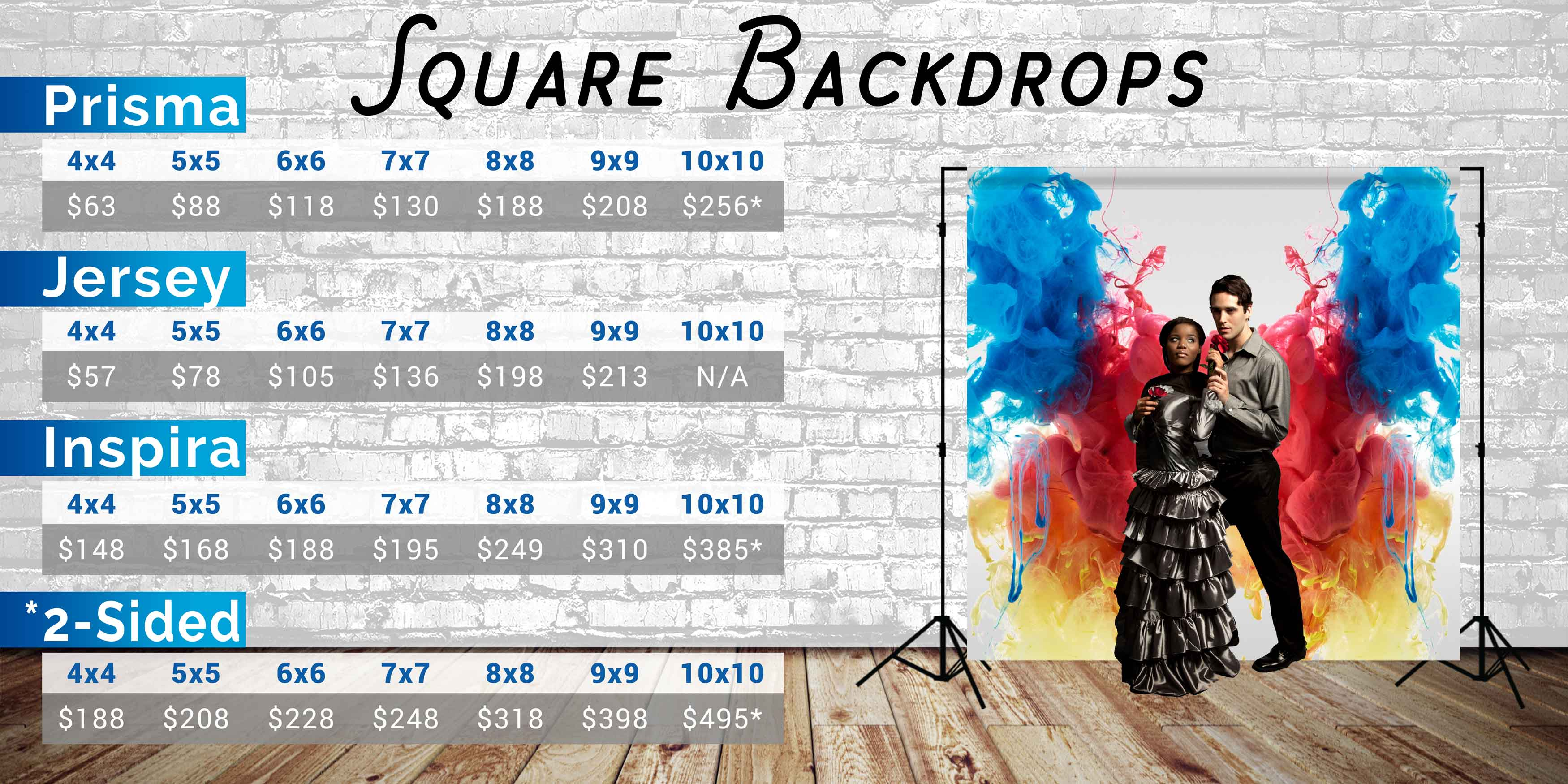 Photo Pie Square Backdrop Prices