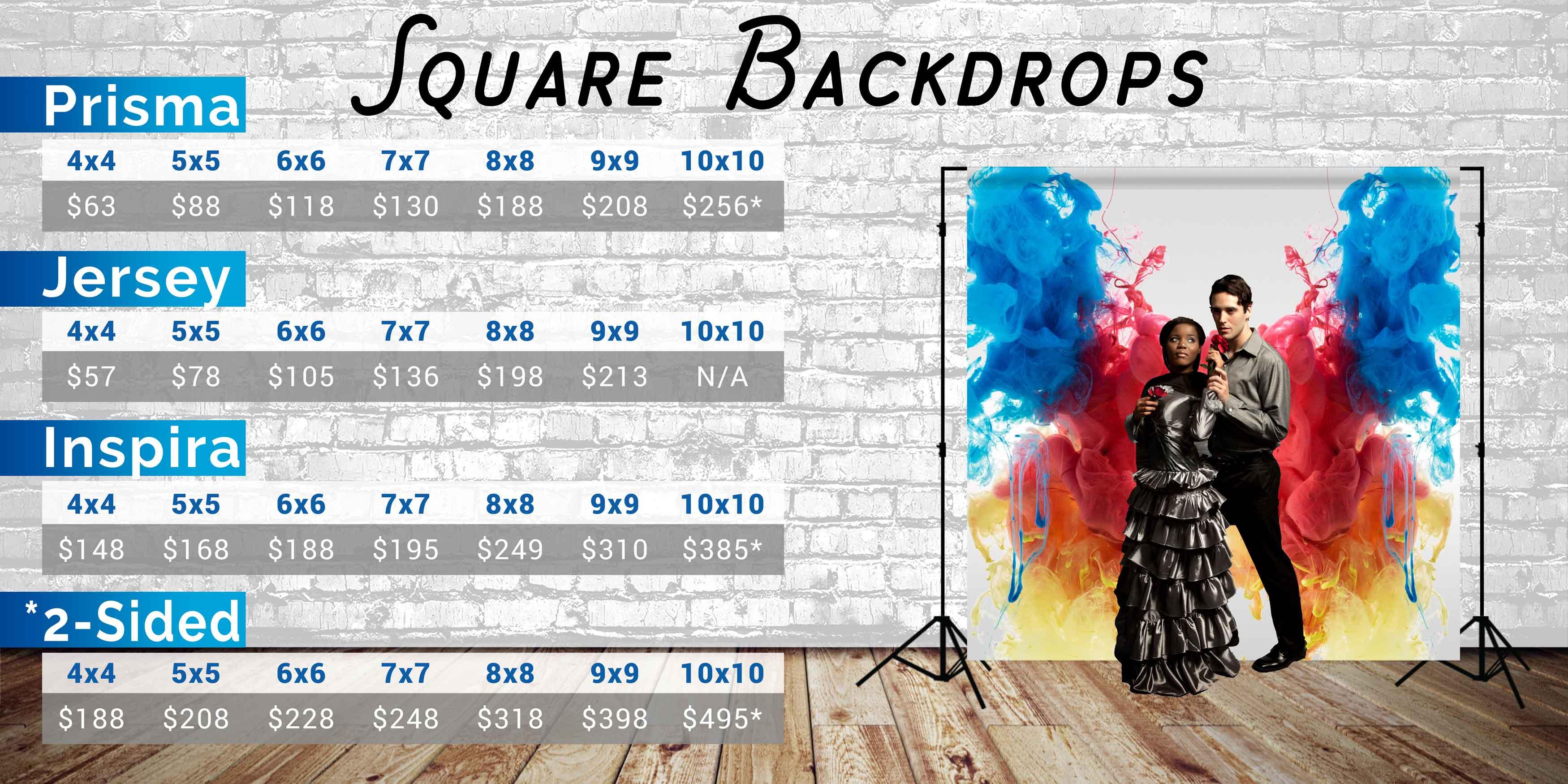 Photo Pie Square Backdrop Prices