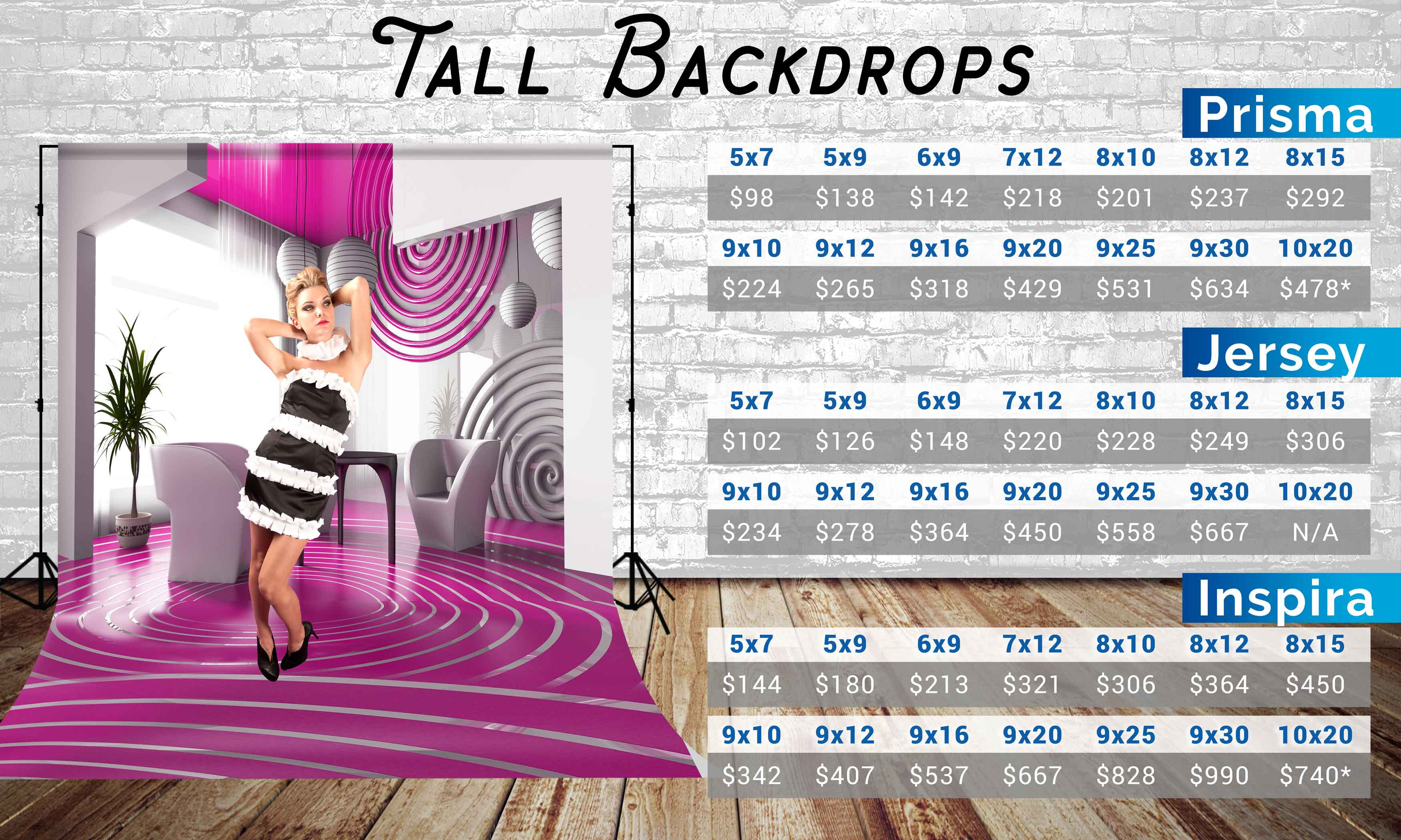 Photo Pie Tall Backdrop Prices