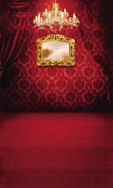 Victorian Boudoir Backdrop Photo Pie