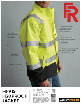 Ariat FR Hi-Vis H2O Proof Jacket