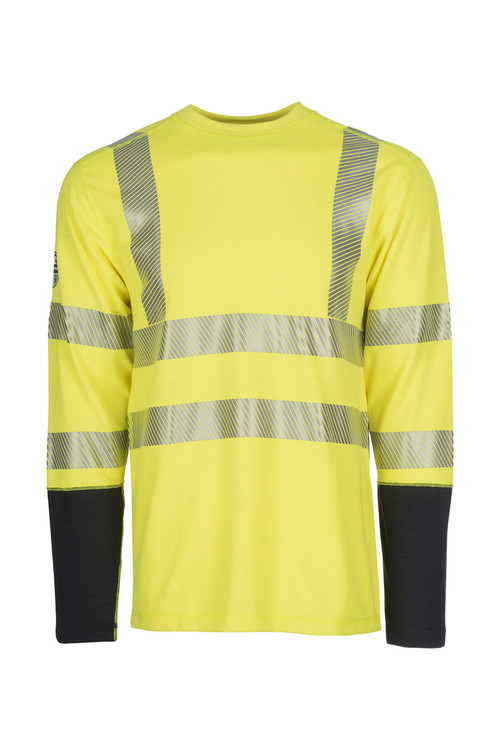 Dragon Wear Mens Pro Dry Hi Vis Long Sleeve Shirt